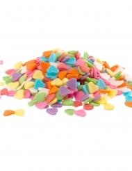 Confettis en sucre Cœurs multicolores 100 g