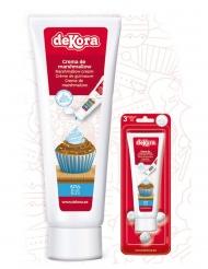 Crème de guimauve effet poche à douille bleue 120 g
