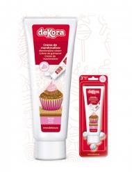 Crème de guimauve effet poche à douille rose 120 g