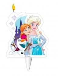 Bougie d'anniversaire Elsa, Anna et Olaf™ 8 cm