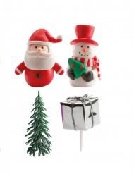 Kit de décoration Bûche de Noël 2 à 5,5 cm