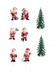 Kit de décoration Bûche de Noël 3 à 6 cm