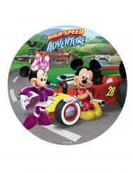 Disque en sucre Mickey et Minnie™ 20 cm
