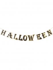 Guirlande en carton Halloween noire et dorée 3 m