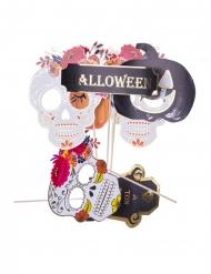Kit photobooth Calaveras Halloween 7 accessoires