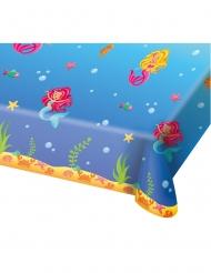 Nappe en plastique Sirène bleue 180 x 130 cm