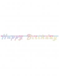 Guirlande en carton Happy Birthday irisée
