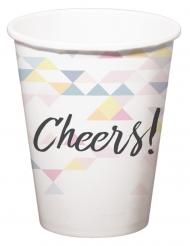 6 Gobelets en carton Cheers géométrique 250 ml
