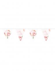 Guirlande de fanions Mr & Mrs floral blanc 10 m