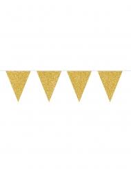 Guirlande à fanions dorés pailletés 6 m
