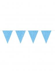 Guirlande de fanions bleus pailletés 6 m