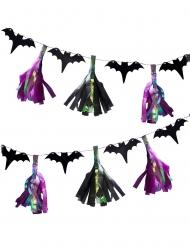 Guirlande tassels iridescents et chauve-souris 2 m