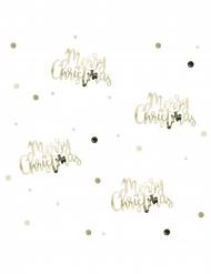 Confettis de table Merry Christmas dorés 14 g