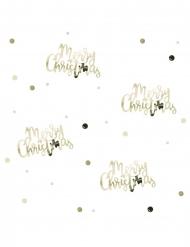 Confettis de table Merry Christmas dorés 14 g