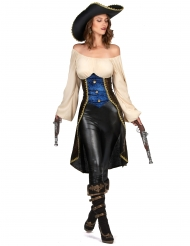 Déguisement pirate marron femme