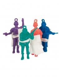 6 Accessoires piñata hommes en parachute 6 cm