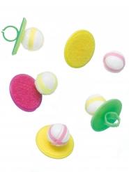 5 Accessoires piñata bagues jeu de balle collante