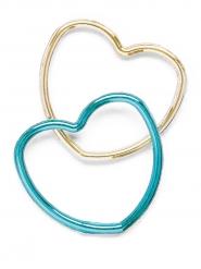 12 Bracelets en forme de coeur brillants enfant