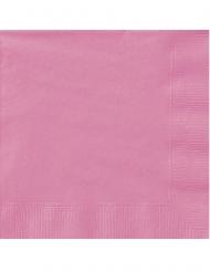 20 Petites serviettes en papier roses 25 x 25 cm