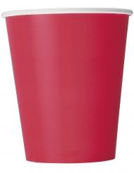 14 Gobelets en carton rouges 266 ml