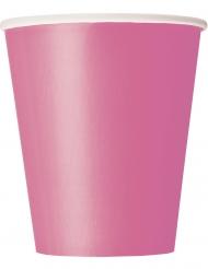 14 Gobelets en carton roses 266 ml