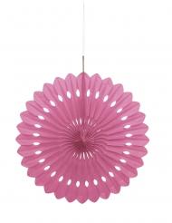 Rosace en papier rose 40 cm