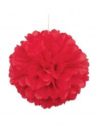 Pompon à suspendre en papier rouge 40 cm