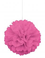 Pompon à suspendre en papier rose 40 cm