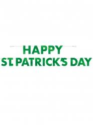 Bannière en carton Happy St. Patrick's Day verte 3m20