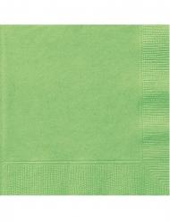20 Petites serviettes en papier vert citron 25 x 25 cm