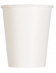 14 Gobelets en carton blancs 266 ml