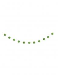 Guirlande de boules alvéolées en papier vert citron 2,13 m