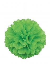 Pompon à suspendre en papier vert citron 40 cm
