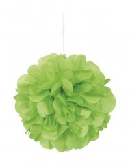 3 Pompons à suspendre en papier vert citron 22 cm