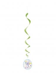 3 Suspensions en spirales oeuf de Pâques 66 cm