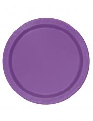 16 Assiettes en carton violettes 23 cm