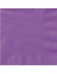 20 Petites serviettes en papier violettes 25 x 25 cm