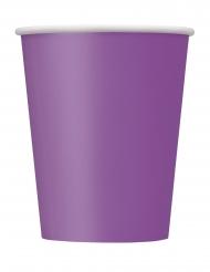 14 Gobelets en carton violets 270 ml