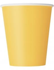 14 Gobelets en carton jaunes 270 ml