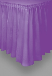 Jupe de table en plastique violette 73 cm x 4,26 m