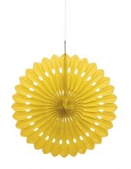 Rosace en papier jaune 40 cm