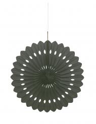 Rosace en papier noire 40 cm