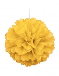 Pompon à suspendre en papier jaune 40 cm