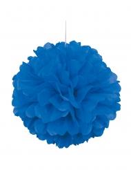 Pompon à suspendre en papier bleu foncé 40 cm