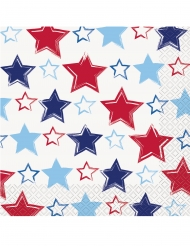 16 Serviettes en papier America 33 x 33 cm