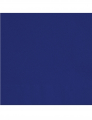 20 Petites serviettes en papier bleues foncées 25 x 25 cm