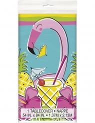 Nappe en plastique Summer Ananas & Flamant 137 x 213 cm