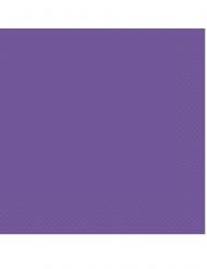 20 Serviettes en papier violet foncé 33 x 33 cm