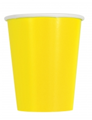 14 Gobelets en carton jaunes 266 ml