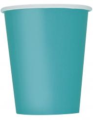 14 Gobelets en carton bleu clair 266 ml